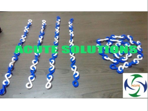 Blue & White Plastic Link Chain
