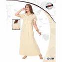 Ladies Half Sleeve Full Length Nightgown