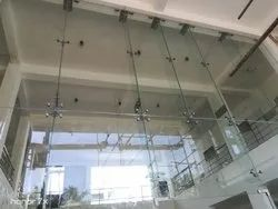 Toughened Glass With Spider Fittings