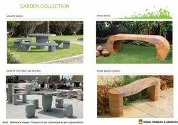 Outdoor Granite Stone Bench