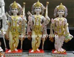 Printed Ram Darbar Marble Statue
