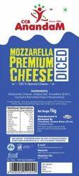 Anandam Mozzarella Premium Diced Cheese, Packaging Type: Box, Weight: 1 Kg