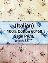 Cotton Satin Shirting Fabric (Italian)