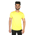 Mens Yellow Plain T-shirts