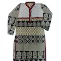 Ladies Cotton Stylish Kurti, Size: S, M & L