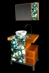 Green Agate Vanity Counter