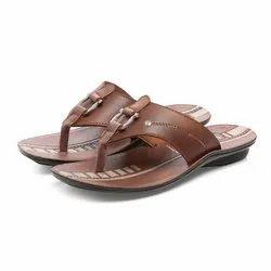 PU (Sole) Mens Tan Casual PU Slippers