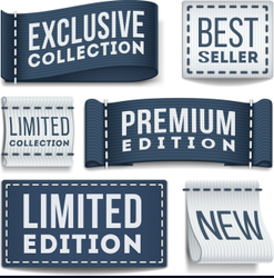 Embroidered Woven Clothing Labels For Garments, Packaging Type: Packet