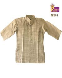 Casual Wear Kids Plain 3/4th Sleeve Kurta