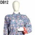 10 Cotton Hand Printed Women's Long Dress India DB12