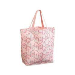Pink Handled Fancy Shopping Bag, Capacity: 4 Kg