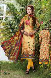 Casual Wear Cotton Printed Suits