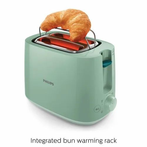 Philips Daily Collection HD2584/60 830-Watt 2-Slice Pop Up Toaster (Desert Green)