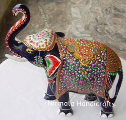 Metal Meenakari Elephant