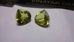 AAA Green Gold Lemon Quartz Trillion Cut Calibrated Faceted Loose Gemstone, 5mm To 10mm