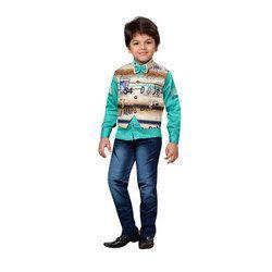 AJ Dezines Kids Shirt Waistcoat And jeans Set For Boys