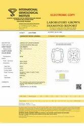Cushion cut 3.03ct Lab Grown Diamond CVD E VS1 IGI Certified Stone
