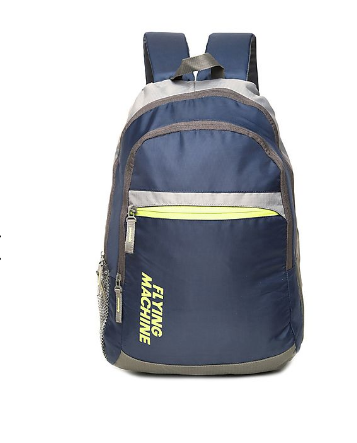 159597f0b7b5 Navy And Grey Flying Machine Colour Block Padded Backpack