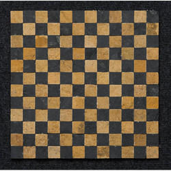 Teak and Grey Sandstone Pillar Mosaic Tiles