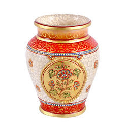 Marble Vase with Fine Gold Work