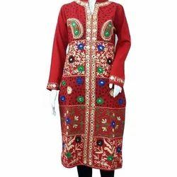 Multicolor Cotton Full Sleeve Ladies Kurti