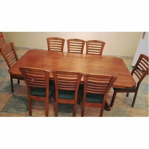 Rectangular Table 8 Seater Wooden Dining Table Set Rs 25000 Set Id 20962591930