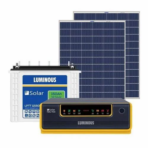 Luminous Combo Luminous 1 Kva Off Grid Solar System With 320 Watts Of Panel For Mid Sized Home Shops Wholesale Trader From Kolkata