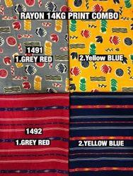Rayon Checks Fabric