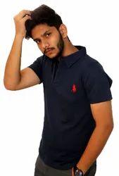 Mens Purple Polo T Shirt