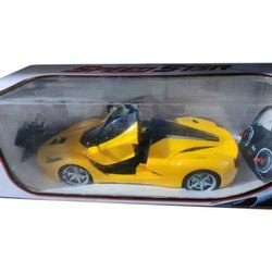 Yellow and Black Plastic Kids Remote Car Toy