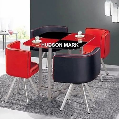 Hudson Mark Red Black Modular Dining Table Set Size 1000 1000 750 Mm Rs 7900 Piece Id 17211251191