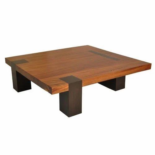 Square Wooden Living Room Center Table At Rs 3300 Piece लकड क स टर ट बल व डन स टर ट बल लकड क स टर म ज Shri Balaji Furniture Jaipur Id 18365444591