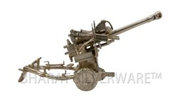 Pure Silver Pounder Gun Sculpture