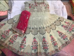 Georgette With Thread Work Wedding Lehenga