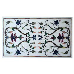 White Inlay Table, Table Inlaid Tops
