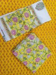 Vandana Handicraft 45 Inch Designer Punjabi Cotton Suit Material