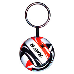 PVC Plain Key Ring With Net Ball