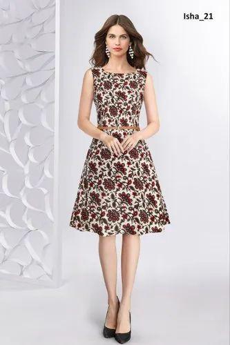 Ladies Printed Western Wear Exclusive Designer Dress