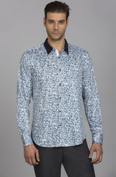 Grey Blue Shirt PSMS1702