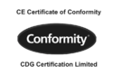 CE Marking Certificate of Conformity
