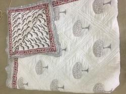Quilted Block Print Cotton Quilt