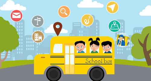 School Bus Tracking Using Gps With Camera And Rfid In Parrys
