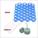 Round Cover Block Mould for Slab - 20mm (42 Cavity) Without Hole - 40mm Diameter