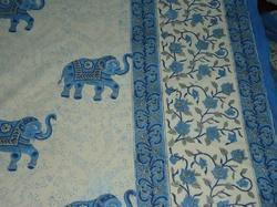 Hand Block Printed Jaipuri Cotton Fabric Bed Sheet