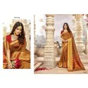 Printed Party Wear Lifestyle Fancy Khadi Silk Casual Sarees