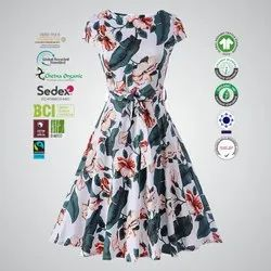 GRS Recycle Cotton Ladies Casual Dress