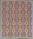 Handmade Wool Saree Silk Oxidized Carpets