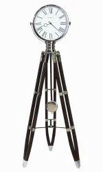 Tripod Stand Vintage Round Clock