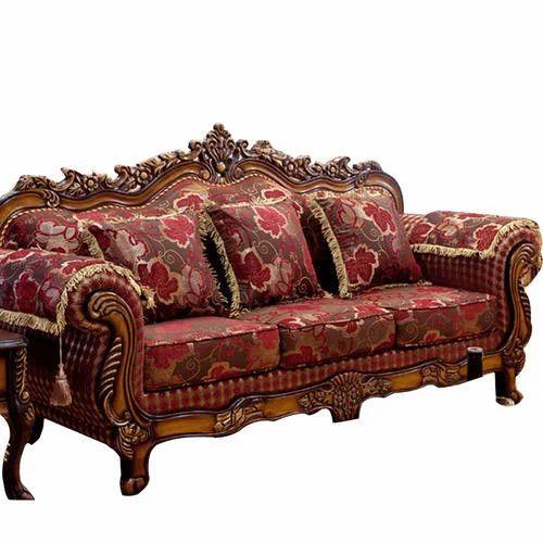 Wonderful Wooden Carved Sofa Set