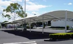 Tunnel Car Parking Tensile Structure